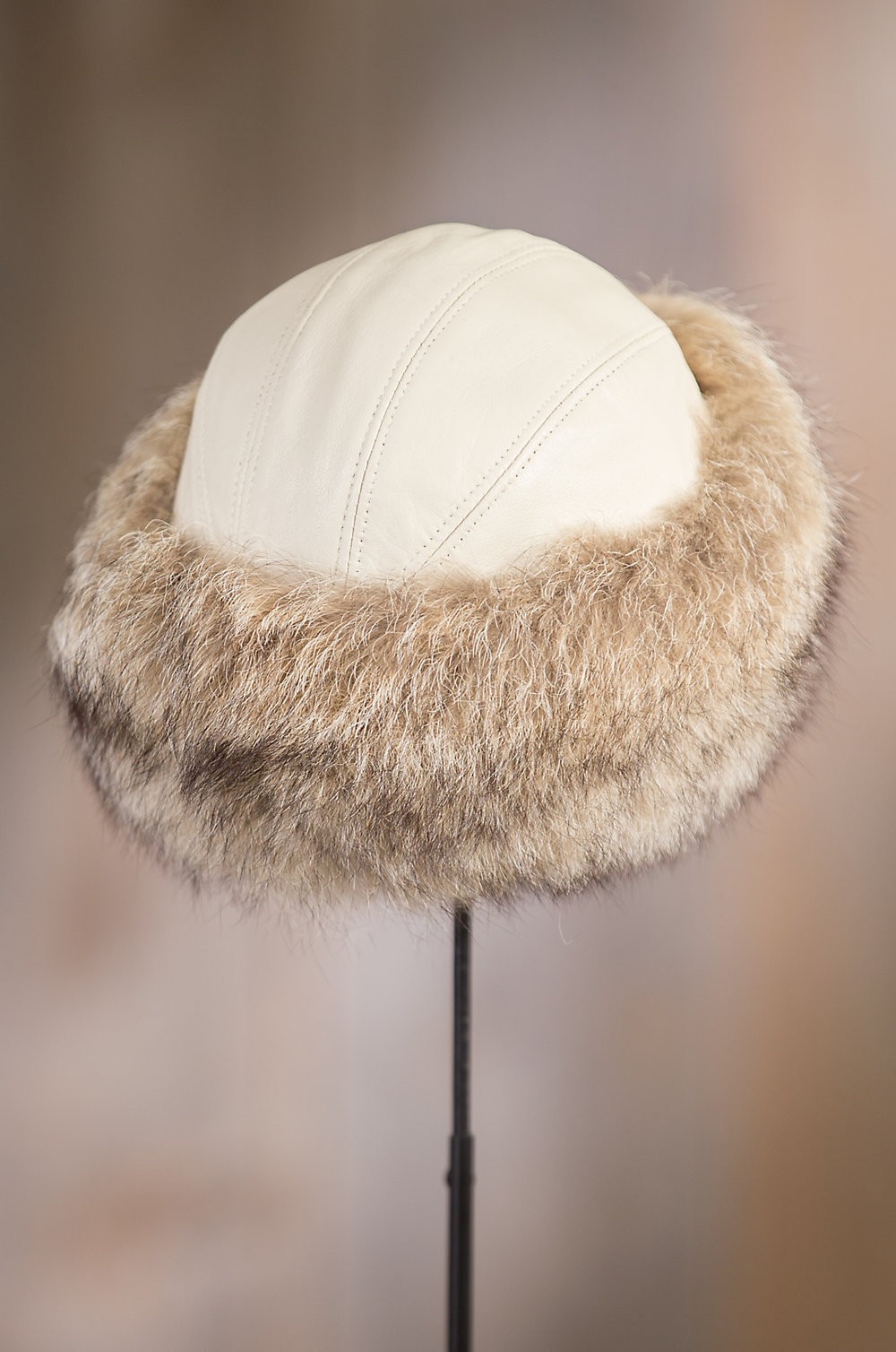e476cf2e 기획전 [오버랜드] Canadian Coyote Fur Cossack Hat with Lambskin Leather Crown